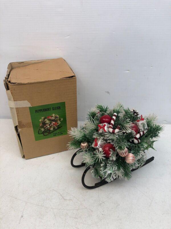 Gorgeous Vintage Christmas Around The World Peppermint Sleigh Decoration 54-175