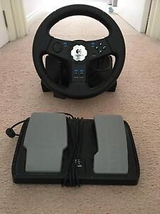 Logitech gaming steering wheel & pedals Launceston Launceston Area Preview