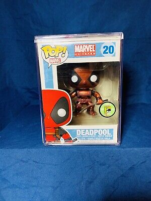 Funko Pop Deadpool (Metallic) SDCC 2013 Exclusive 480 pieces with Hard Protector