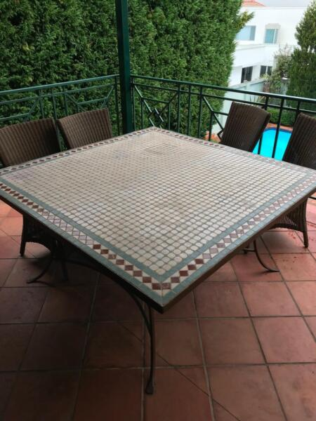 Wrought Iron Mosaic Top Outdoor Table Dining Furniture Gumtree Australia Eastern Suburbs Dover Heights 1193488792