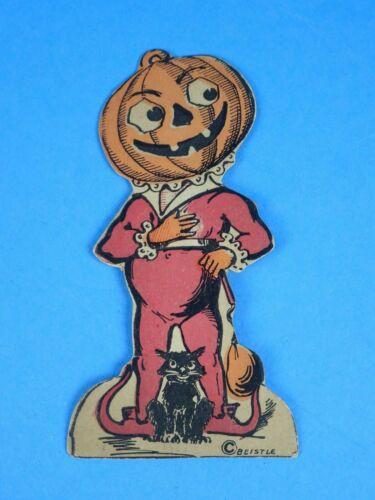 Vintage Halloween Beistle Johnny Pumpkin Head Stand up! NOS?