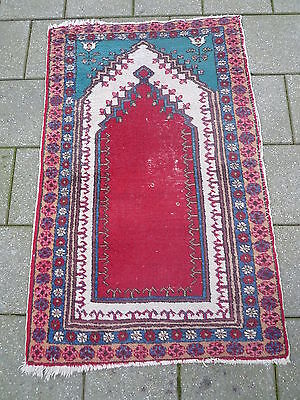 ANTIQUE PRAYER RUG __ Oriental Carpet____