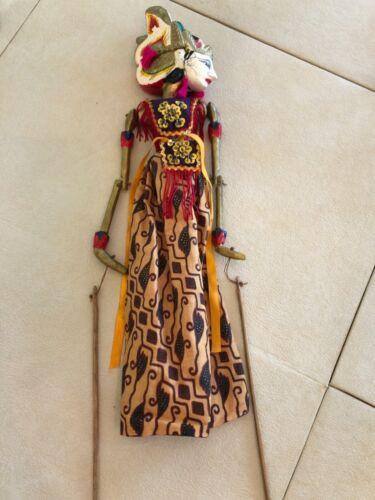Vintage Indonesian Stick Puppet Wayang Golek Rod Puppet