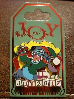 Disney Parks Christmas Joy 2017 Stitch Pin Limited Edition