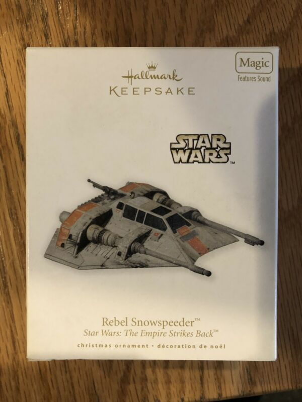 "2010 HALLMARK KEEPSAKE  STAR WARS"" REBEL SNOWSPEEDER"""