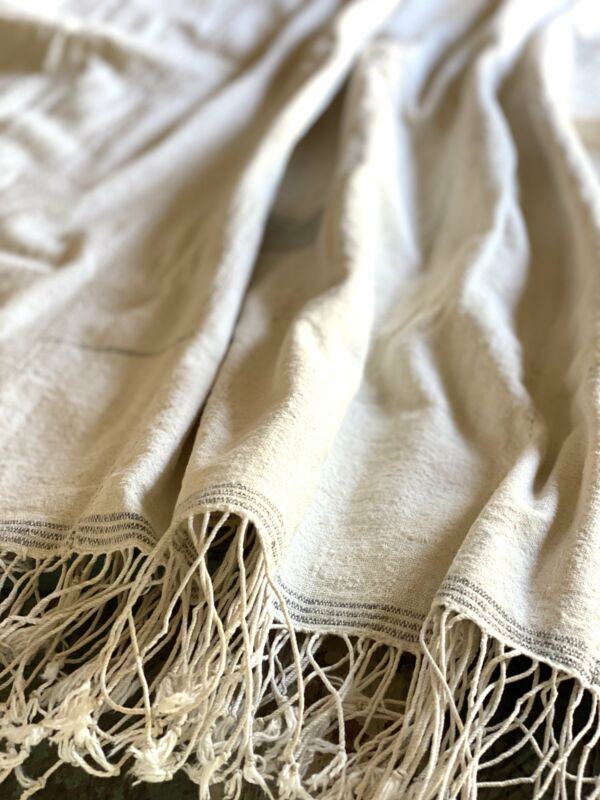 Vintage African Natural White Mudcloth | No. 31
