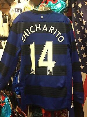 Manchester United 2010 Third CHICHARITO Football shirt Soccer Jersey M Men image