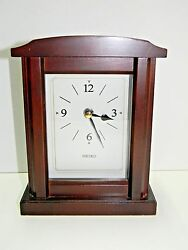 Seiko Wooden Quartz Clock QXG335BLH Mantel, Shelf or Desk Japanese Movement