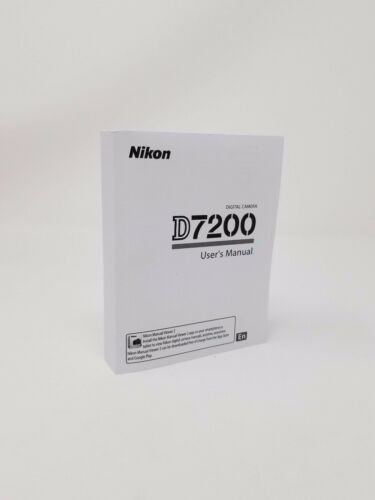 Nikon D7200 7200 Instruction Owners Manual D7200 Book  NEW