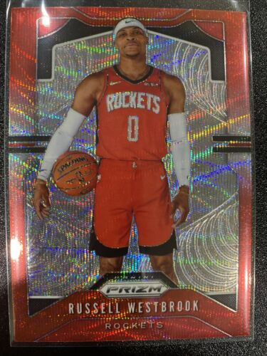 2019-20 Panini Prizm NBA Russell Westbrook Red Wave Parallel 182 - $0.99