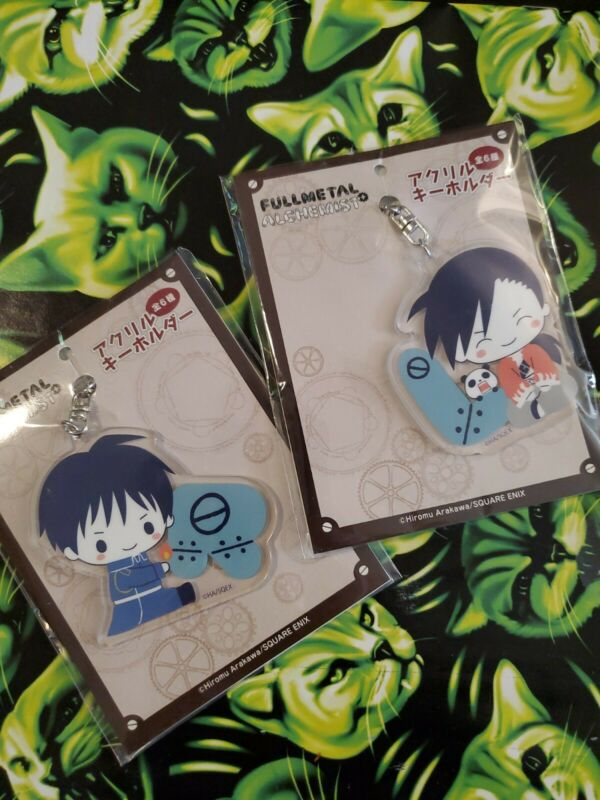 Official Full Metal Alchemist X Sanrio Acrylic Keychain Set Ling Yao Roy Mustang