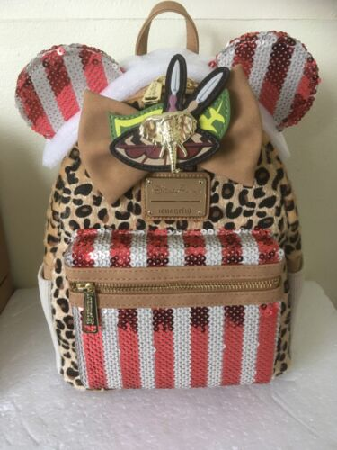 DISNEY MINNIE MOUSE MAIN ATTRACTION JUNGLE CRUISE NOVEMBER LOUNGEFLY BAG NEW