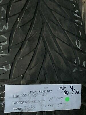 1 30540-22 Toyo Proxes St Used High Tread Tire 305 40 22 932nds