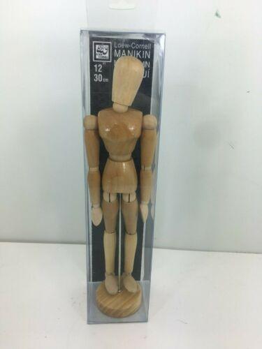 "12"" Wood Artist Mannequin by Loew Cornell Female in Original package"
