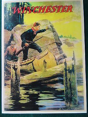 Winchester Firearms Advertising Poster, Elwell, Artist, Western Artwork