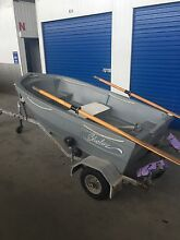 Boat / Tinny 8ft & Trailer - Great Quality / Light Weight Brompton Charles Sturt Area Preview