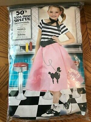 50/'s Soda Shop Sweetie Poodle Dress Child Costume