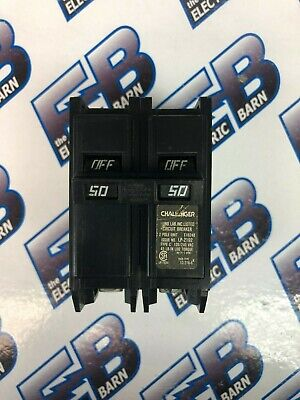 Challenger C250 50 Amp 240 Volt 2 Pole Circuit Breaker- Warranty