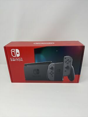 NEW Nintendo Switch HAC-001 32GB Console V2 Black with Gray Joy‑Con Sealed