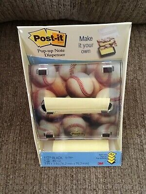 NEW 3M Post-it Pop-up Note Dispenser 3D Baseballs Build Your Own Accordion Style 3d Pop Up Dispenser Notes