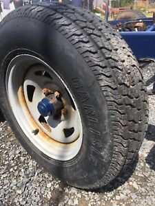 "Trailer rim and tire package 14"" 5 bolt"