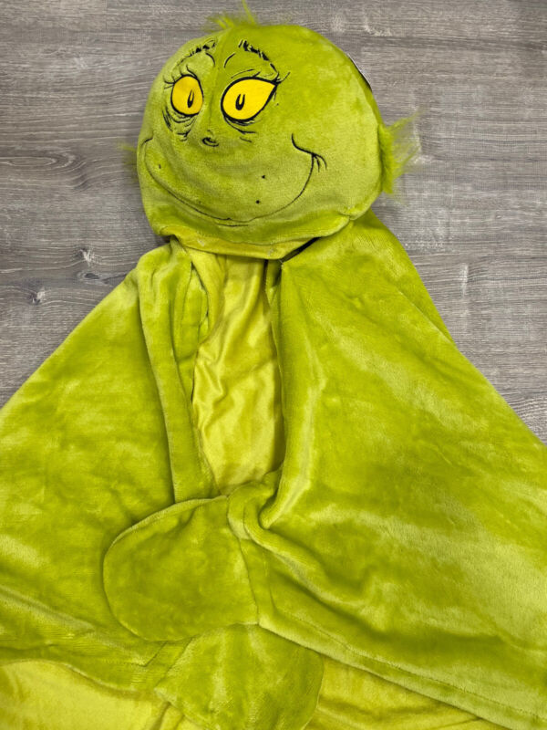 Super Soft Grinch Who Stole Christmas Hooded Throw Blanket
