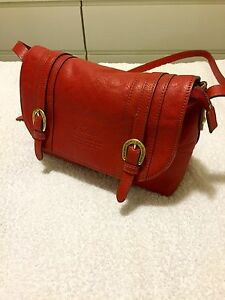 Genuine Leather Shoulder Bag (Red) Victoria Park Victoria Park Area Preview