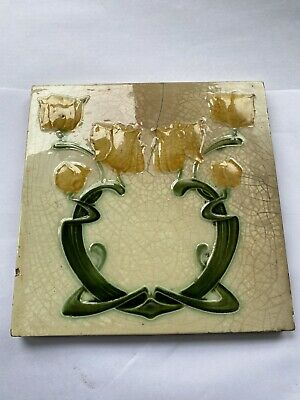 "Victorian fireplace tile Antique 6x6 "" Inch Flower"