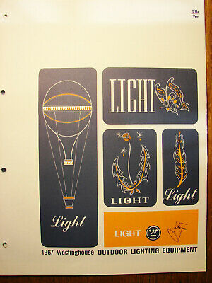 1967 WESTINGHOUSE Electric Corp OUTDOOR LIGHTING