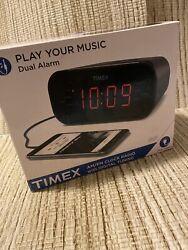 Timex Dual Alarm Clock Radio T231GRY AM/FM Digital Tuning
