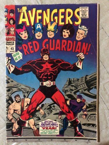 Avengers #43 Hot Silver Age Key 1st Red Guardian Black Widow Marvel MCU 4.0