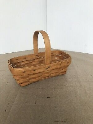 Plastic Basket With Handle (Longaburger Basket Tiny With Handle And Plastic Insert 2000)