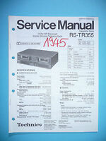 Manuale Di Servizio Per Technics Rs-tr355 Cassetta Deck,originale -  - ebay.it