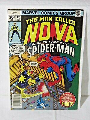 MARVEL THE MAN CALLED NOVA - 1ST SERIES - ISSUE 12 - AUG 1977 - VF+