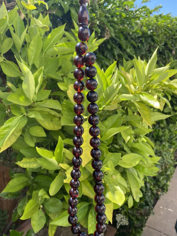 Amber 80gm 33 beads Rosary Amber Islamic 14mm سبحه كهرب كهرم