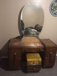 Vintage Vanity with Stool   OBO