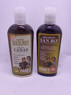 - SAN RO Gray Hair Shampoo & Hair Lotion Coloring Treatment Herbal Extracts 240ml