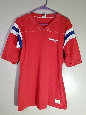 80s Tops, Shirts, T-shirts, Blouse   90s T-shirts MacGregor Shirt Vintage Medallion T Shirt Large 42-44 Red 1980s USA MADE VTG $9.99 AT vintagedancer.com