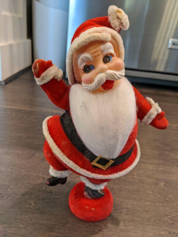 "Vintage 1950s Dancing Santa Felt 9"""
