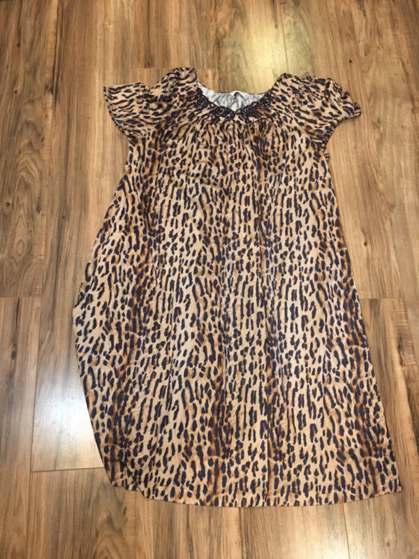 Shadowline Vintage Nightgown Size L- Short Sleeve