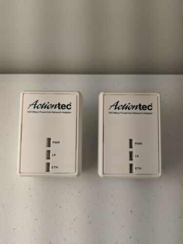 2 Action-Tec PWR500 500 Mbps Powerline Network Adapter
