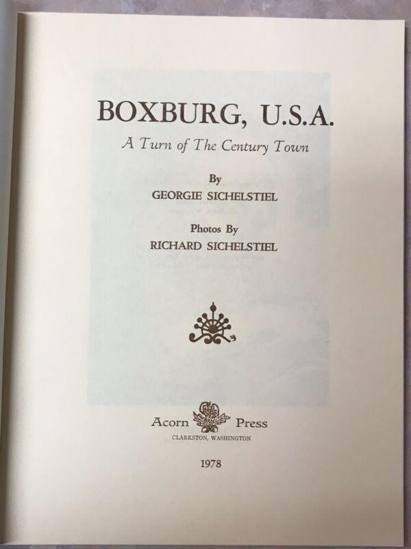 Dollhouse Book Boxburg USA A Turn Of The Century Town 1978 Georgie Sichelstiel