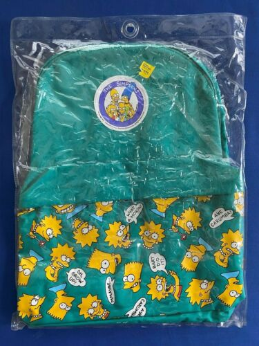 1990 The Simpsons Bart & Lisa Teal Backpack Sealed in Plastic by imaginings 3
