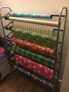 Shoe rack / wrapping station