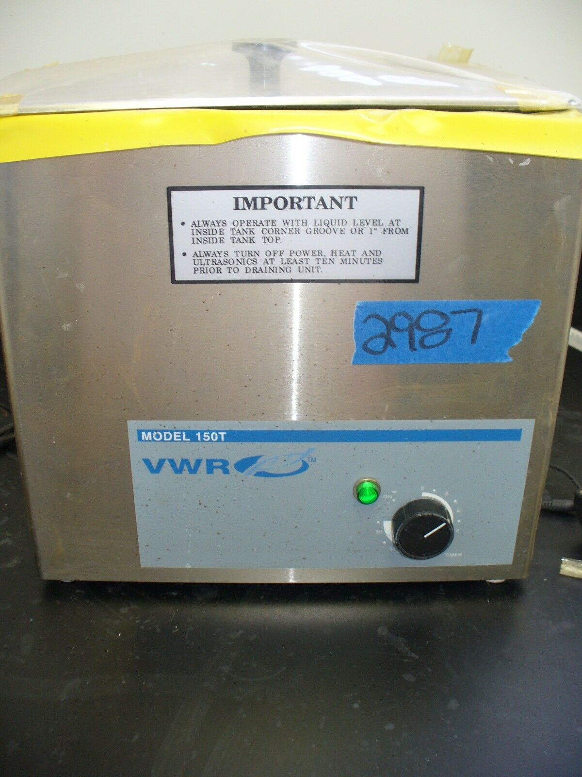 VWR International Ultrasonic Cleaner Model# 150T, Serial# 05TS5B585, 120 Volts