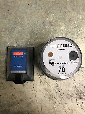 Badger Model 70 Water Meter Pulse Register And Remote Package. Gallons