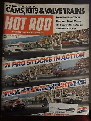 Hot Rod Magazine June 1971 Pro Stocks In Action Pontiac Gt 37  G  An Ar