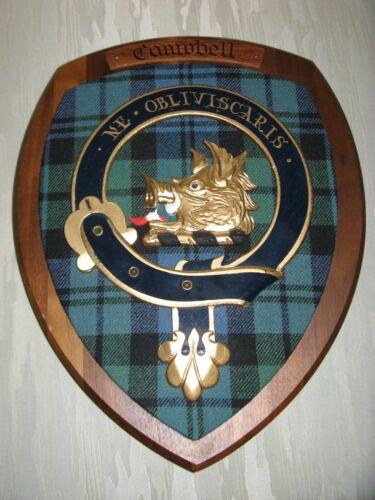 Scottish Clan Campbell Crest Wood Plaque Ne Obliviscaris Dunedin Imports