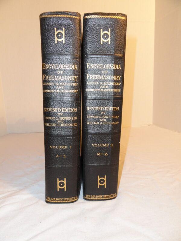 ENCYCLOPEDIA OF FREEMASONRY 1917 2 VOLUME SET ALBERT MACKEY MASONIC HISTORY VGC