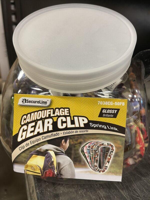 "50 Pack 3"" Aluminum Camouflage Gear Clip Carabiner Snap Spring Link Resale Bulk"
